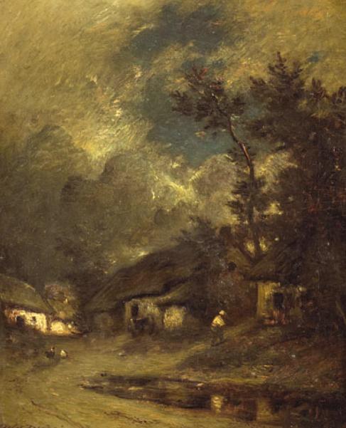 Жюль Дюпре. Деревня ночью