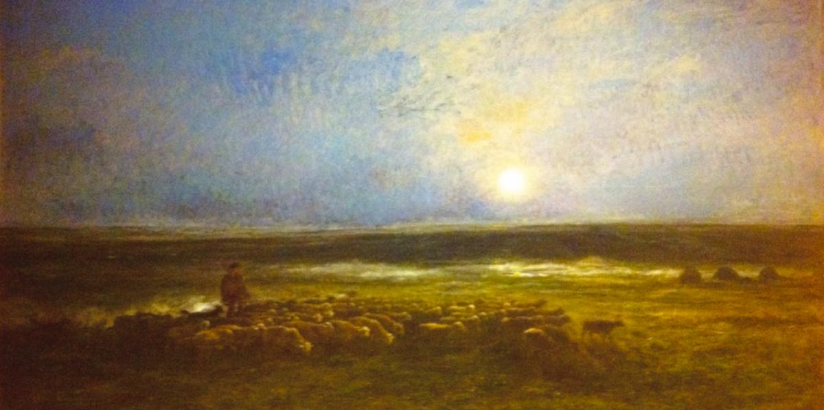 Шарль-Франсуа Добиньи. Восход луны в Овере, или Возвращение стада