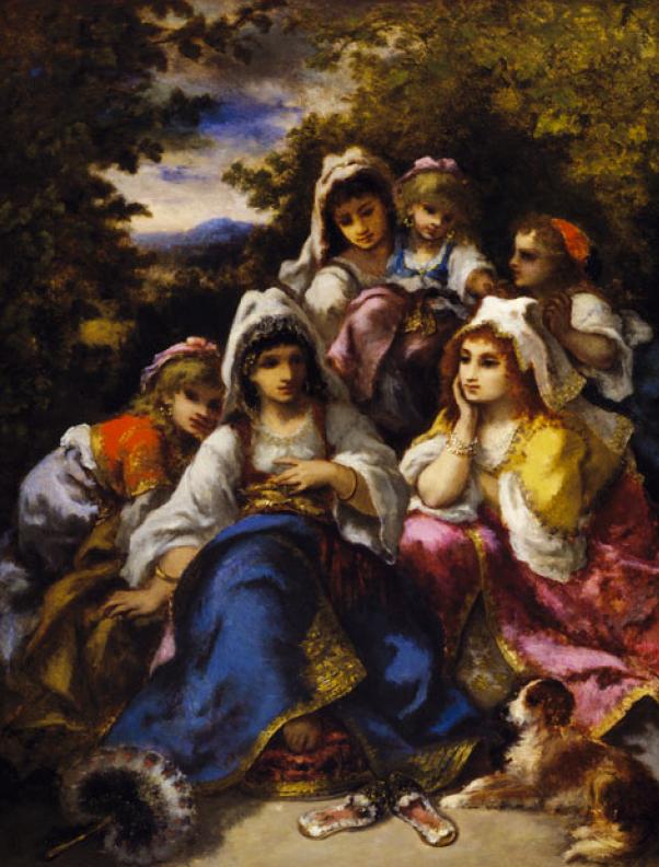 """Нарсис де ла Пенья. Картина """"Цыганские принцессы"""""""