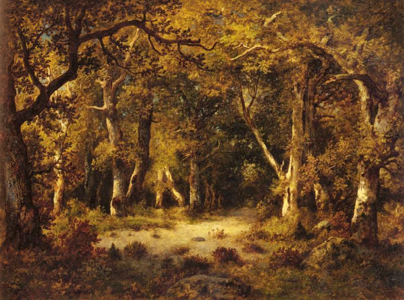 Нарсис де ла Пенья. В лесу Фонтенбло