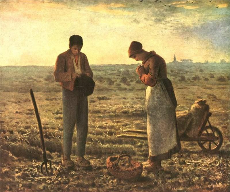 """Жан-Франсуа Милле. Картина """"Анжелюс"""""""