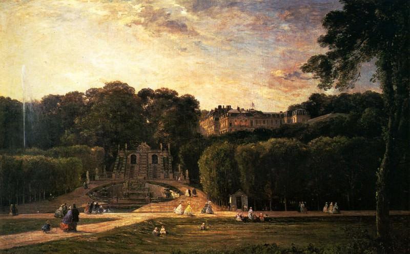 Шарль-Франсуа Добиньи. Парк в Сен-Клу