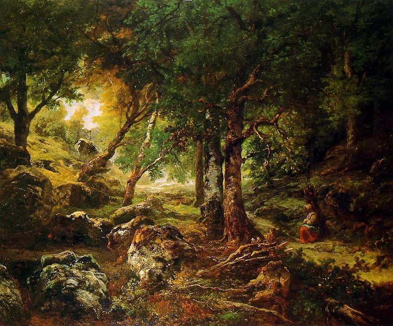 Теодор Руссо. Лесной пейзаж. Солнце