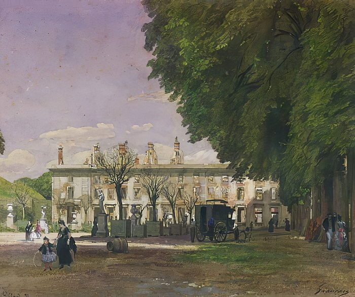 Франсуа-Луи Франсэ. Руины замка Сен-Клу в 1871 году