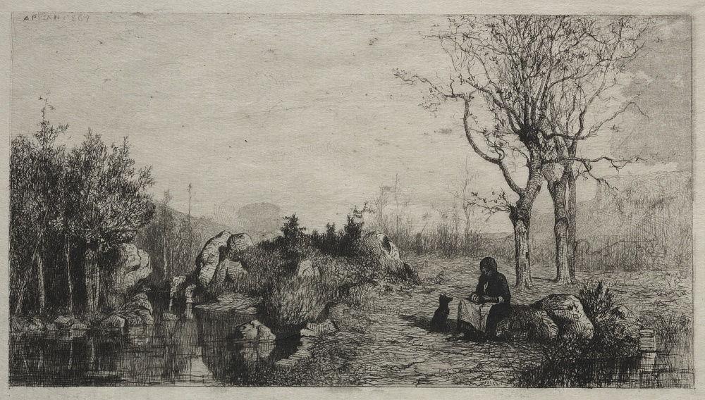 Адольф Аппиан. Берег ручья в Россильоне