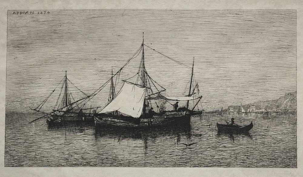 Адольф Аппиан. Лодки каботажного побережья Италии