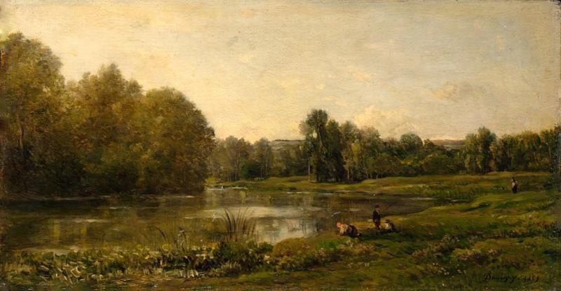 Добиньи. Пейзаж с рекой Уазой
