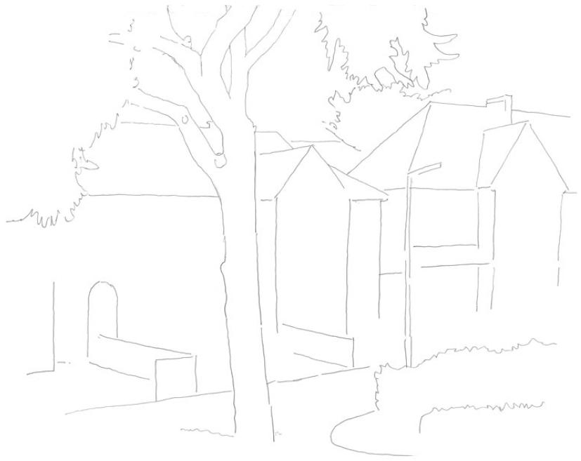 Пейзаж в рисунке карандашом